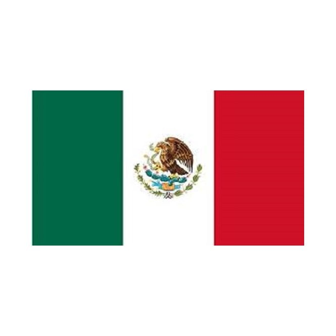 Mexico 5x3 Feet Polyester Flag with Eyelets - 150cm x 90cm
