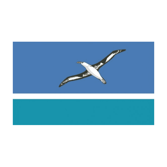 Midway Islands 5x3 Feet Polyester Flag with Eyelets - 150cm x 90cm