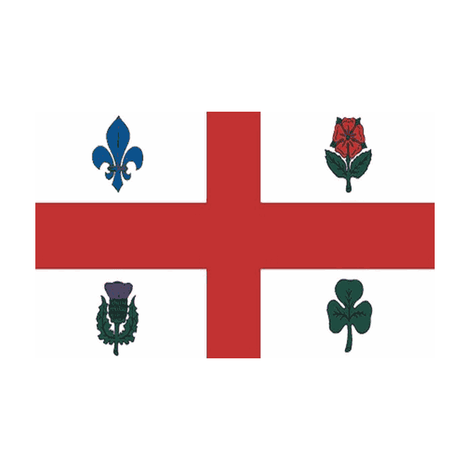 Montreal 5x3 Feet Polyester Flag with Eyelets - 150cm x 90cm