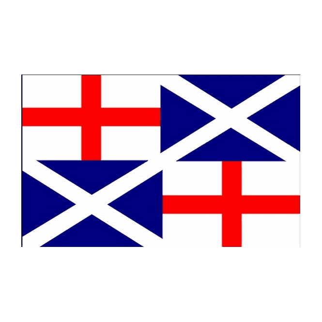 Naval Ensign 1659 5x3 Feet Polyester Flag with Eyelets - 150cm x 90cm