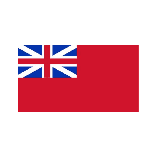 Red Ensign (Naval Ensign Red Squadron-The Meteor Flag) 5x3 Feet Polyester Flag with Eyelets - 150cm x 90cm