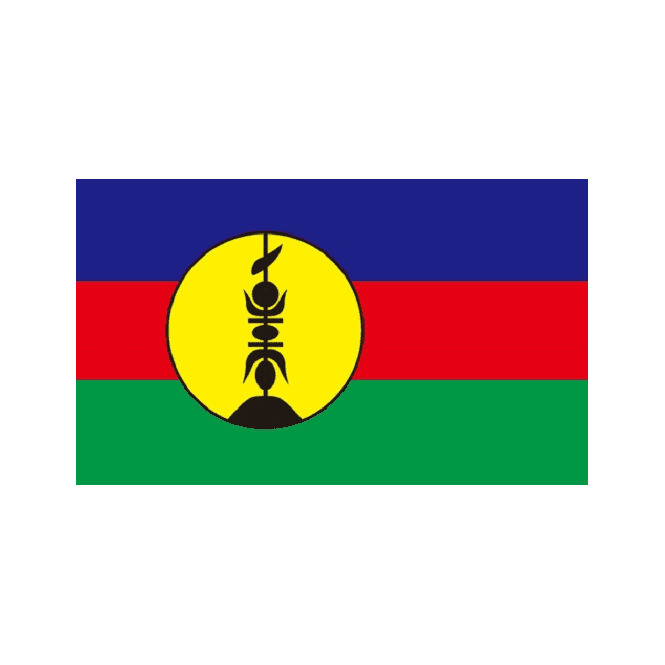 New Caledonia 5x3 Feet Polyester Flag with Eyelets - 150cm x 90cm
