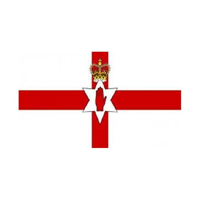 Northern Ireland Red Hand 5x3 Feet Polyester Flag with Eyelets - 150cm x 90cm