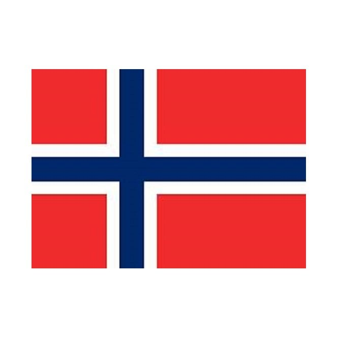 Norway 5x3 Feet Polyester Flag with Eyelets - 150cm x 90cm