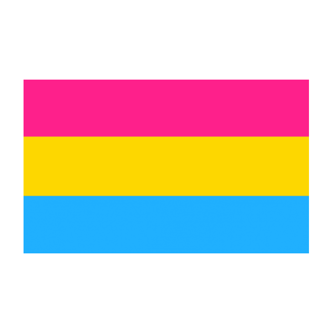 Pansexual 5x3 Feet Polyester Flag with Eyelets - 150cm x 90cm