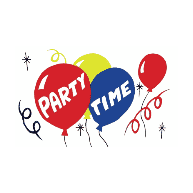 Party Time 5x3 Feet Polyester Flag with Eyelets - 150cm x 90cm