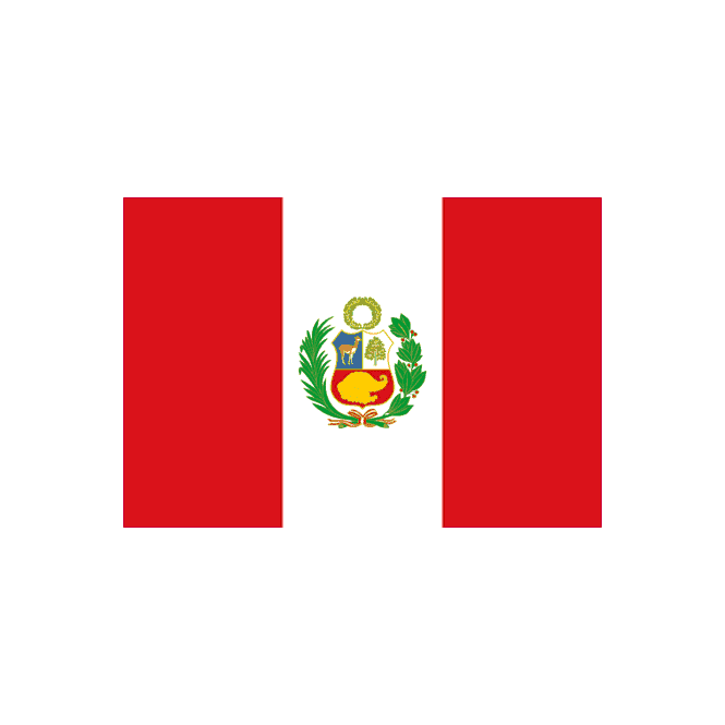 Peru with crest 5x3 Feet Polyester Flag with Eyelets - 150cm x 90cm