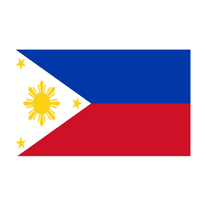 Philippines 5x3 Feet Polyester Flag with Eyelets - 150cm x 90cm