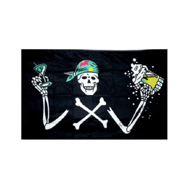 Pirate Beer 5x3 Feet Polyester Flag with Eyelets - 150cm x 90cm