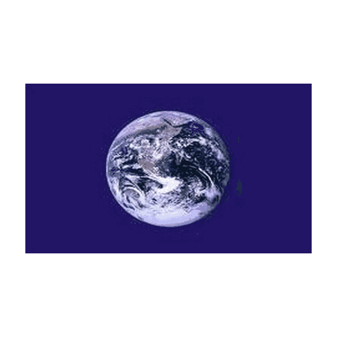 Planet Earth 5x3 Feet Polyester Flag with Eyelets - 150cm x 90cm