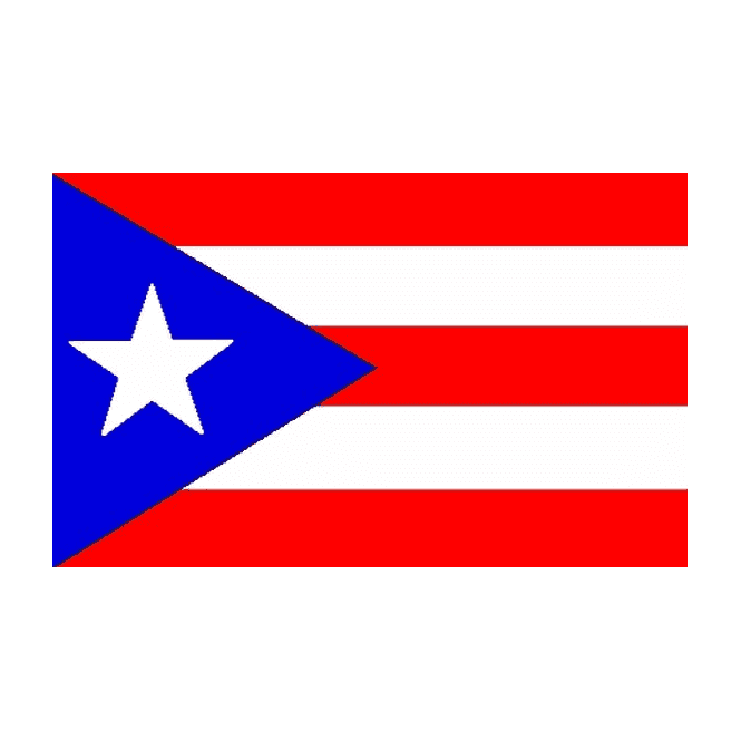 Puerto Rico 3x2 Feet Polyester Flag with Eyelets - 90cm x 60cm