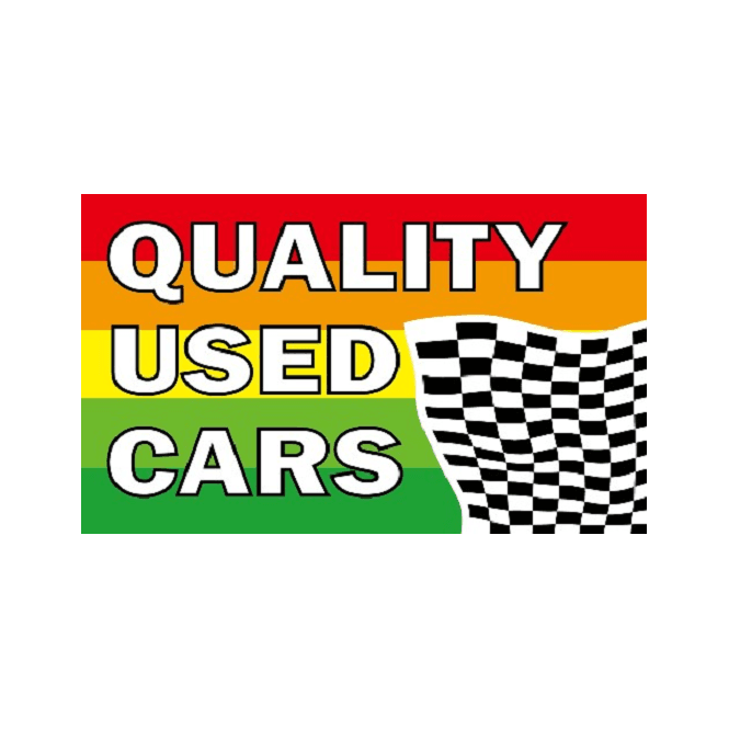 Quality Used Cars 5x3 Feet Polyester Flag with Eyelets - 150cm x 90cm
