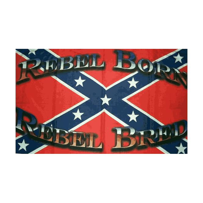 Rebel/Born 5x3 Feet Polyester Flag with Eyelets - 150cm x 90cm
