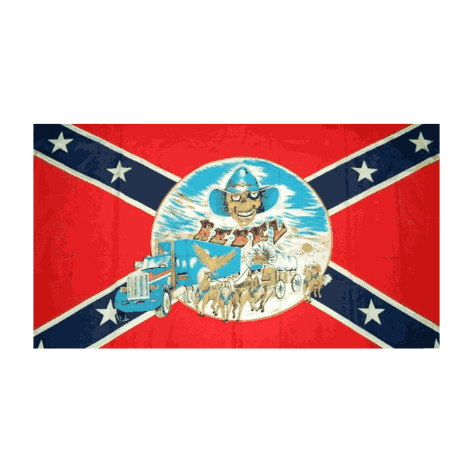 Rebel/Buggy 5x3 Feet Polyester Flag with Eyelets - 150cm x 90cm