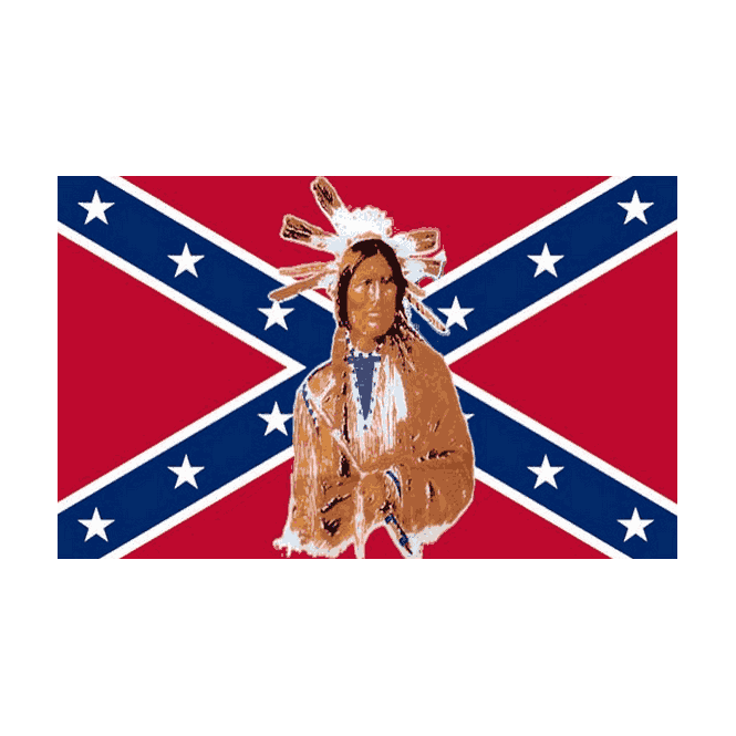 Rebel/Indians 5x3 Feet Polyester Flag with Eyelets - 150cm x 90cm