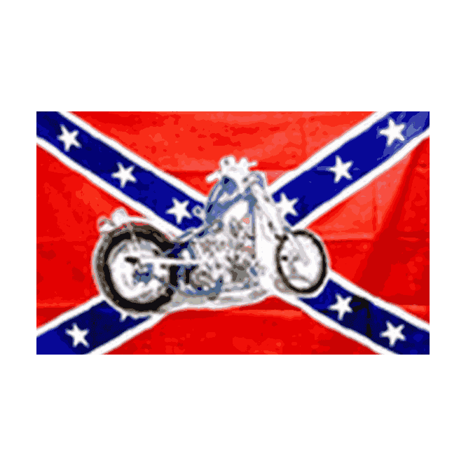 Rebel/Motorcycle 5x3 Feet Polyester Flag with Eyelets - 150cm x 90cm