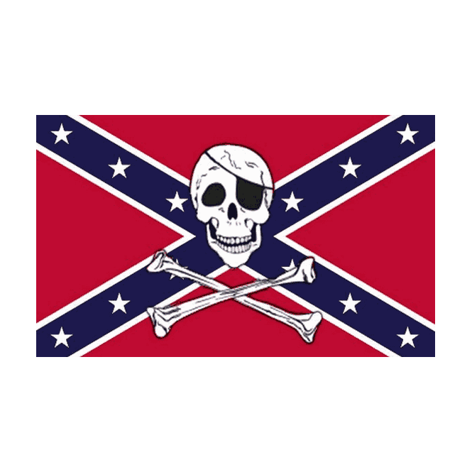 Rebel/Pirate 5x3 Feet Polyester Flag with Eyelets - 150cm x 90cm