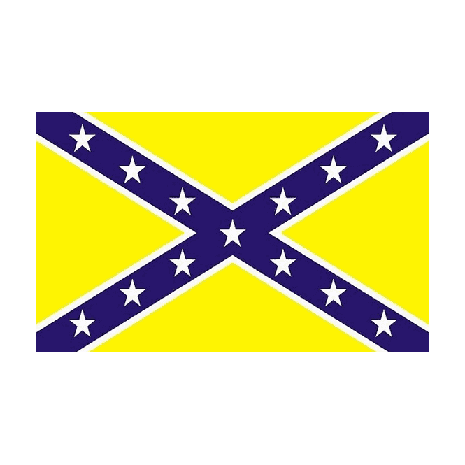 Rebel/Yellow 5x3 Feet Polyester Flag with Eyelets - 150cm x 90cm