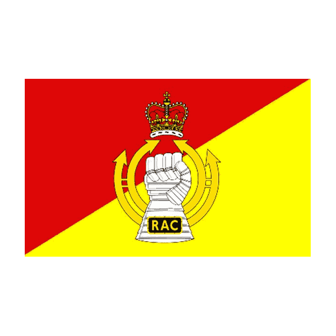 Royal Armoured Corps 5x3 Feet Polyester Flag with Eyelets - 150cm x 90cm