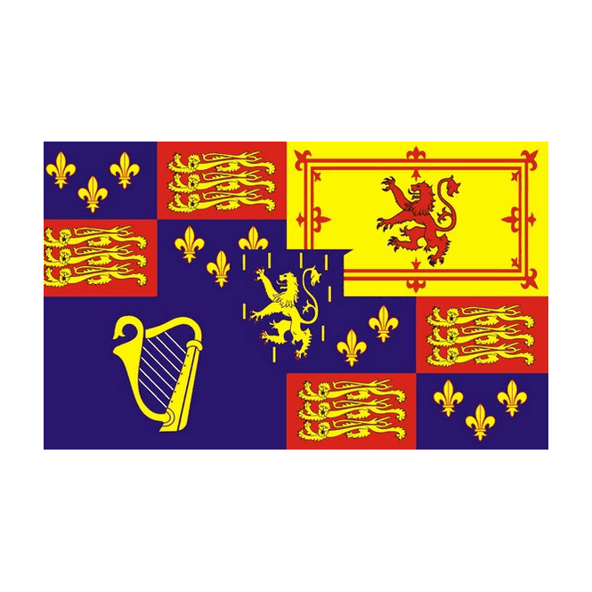 Royal Banner 1689-1702 (William 111) 5x3 Feet Polyester Flag with Eyelets - 150cm x 90cm