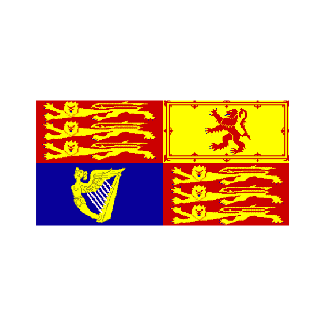 Royal Banner 1714-1801 (House Of Hanover) 5x3 Feet Polyester Flag with Eyelets - 150cm x 90cm