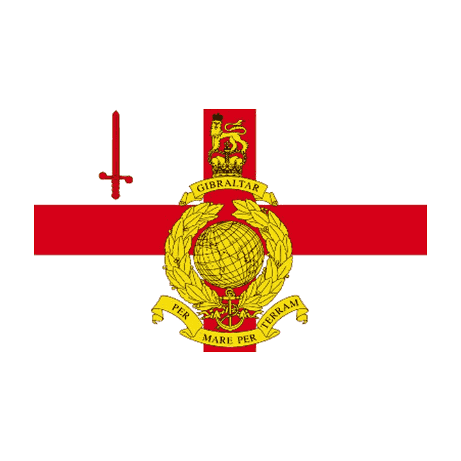 Royal Marines Reserve City Of London 5x3 Feet Polyester Flag with Eyelets - 150cm x 90cm