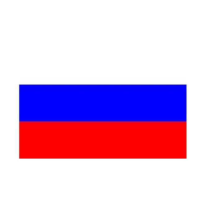 Russia 6 x 4 Inch Polyester Hand Flag - 15cm x 10cm