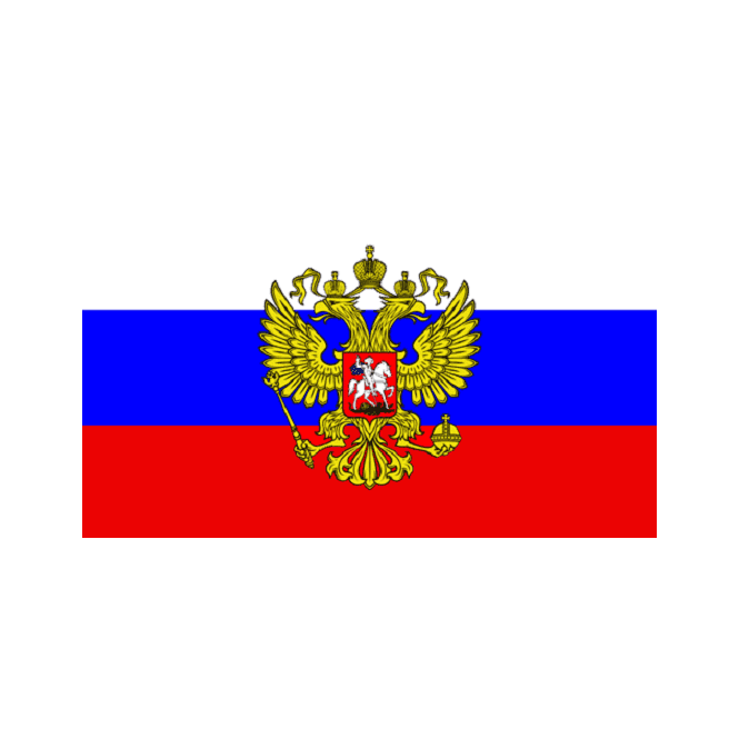 Russian Presidential 3x2 Feet Polyester Flag with Eyelets - 90cm x 60cm