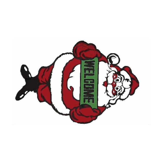 Santa Welcome 5x3 Feet Polyester Flag with Eyelets - 150cm x 90cm