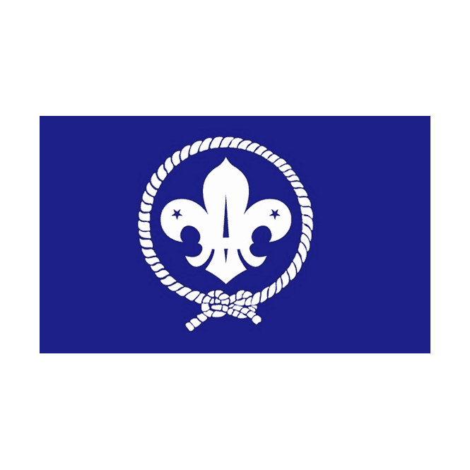 Scout-Blue 5x3 Feet Polyester Flag with Eyelets - 150cm x 90cm