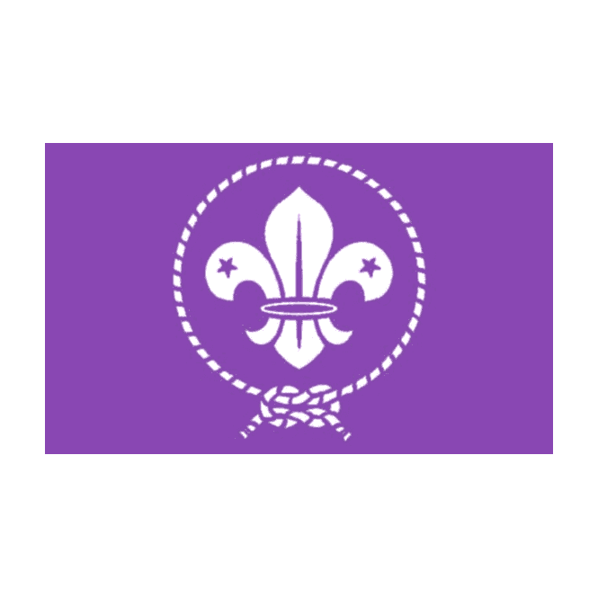 Scout-Purple 5x3 Feet Polyester Flag with Eyelets - 150cm x 90cm