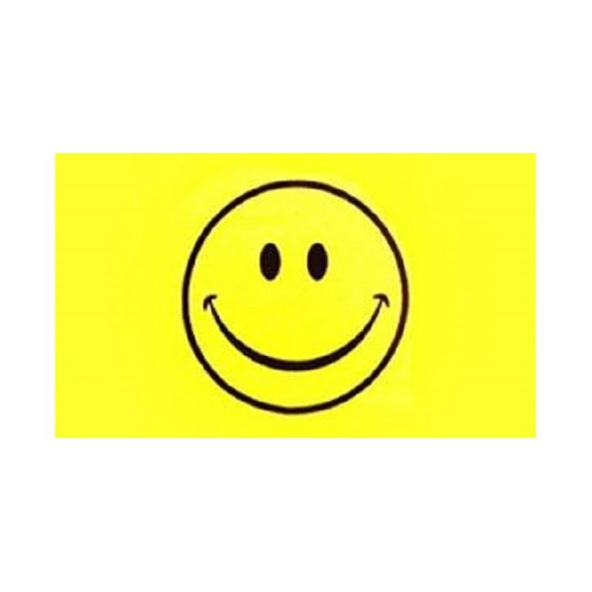 Smiley Face 8x5 Feet Polyester Flag with Eyelets - 250cm x 150cm