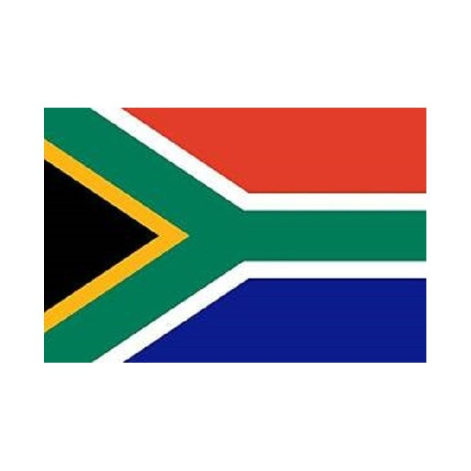 South Africa New 6 x 4 Inch Polyester Hand Flag - 15cm x 10cm