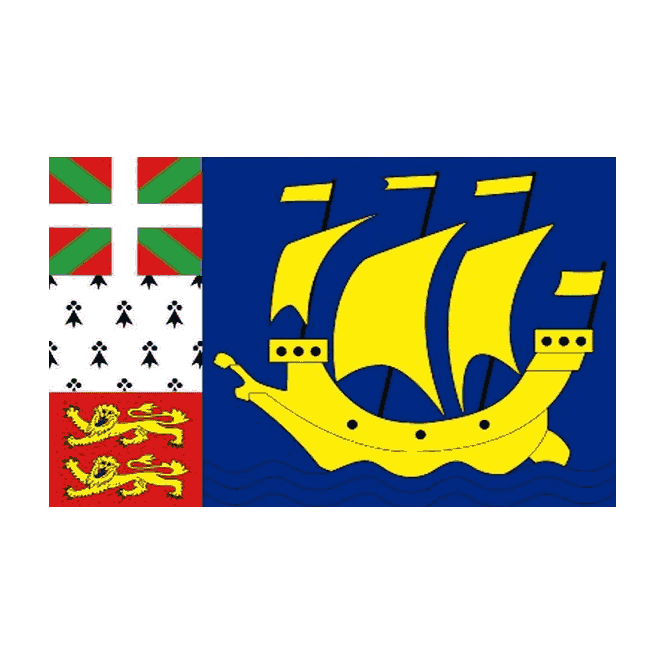 St Pierre 5x3 Feet Polyester Flag with Eyelets - 150cm x 90cm
