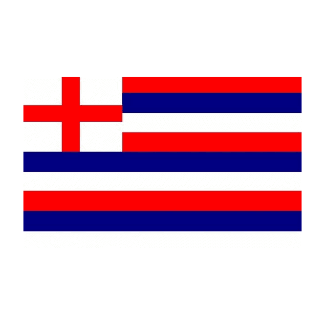 Striped Ensign Red/Blue/White 5x3 Feet Polyester Flag with Eyelets - 150cm x 90cm