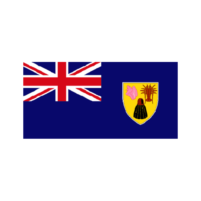 Turks And Caicos 6 x 4 Inch Polyester Hand Flag - 15cm x 10cm