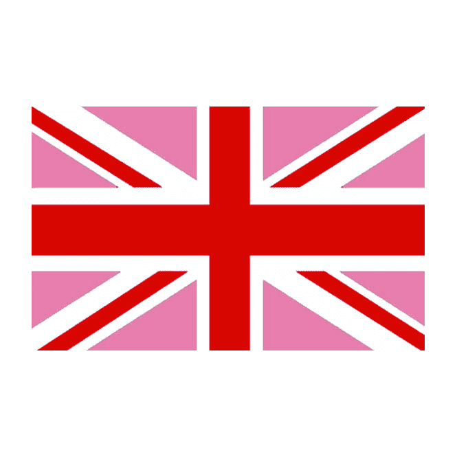 Union Jack (Gay Pride) Pink/Red 5x3 Feet Polyester Flag with Eyelets - 150cm x 90cm