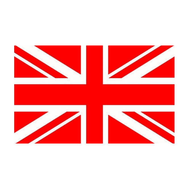 Union Jack Red White 6 x 4 Inch Polyester Hand Flag - 15cm x 10cm