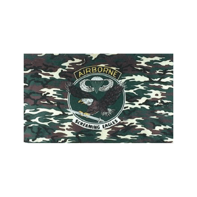 US Camo Airborne 5x3 Feet Polyester Flag with Eyelets - 150cm x 90cm