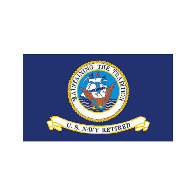 US Navy Retired 5x3 Feet Polyester Flag with Eyelets - 150cm x 90cm