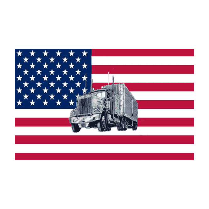USA/Truck 5x3 Feet Polyester Flag with Eyelets - 150cm x 90cm