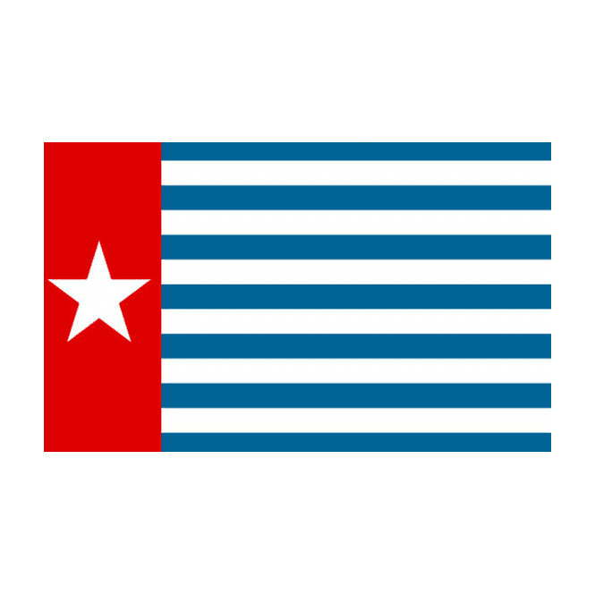West Papua 5x3 Feet Polyester Flag with Eyelets - 150cm x 90cm