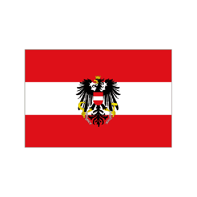 Austria with crest 3x2 Feet Polyester Flag with Eyelets - 90cm x 60cm