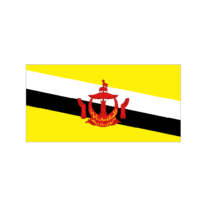 Brunei 5x3 Feet Polyester Flag with Eyelets - 150cm x 90cm