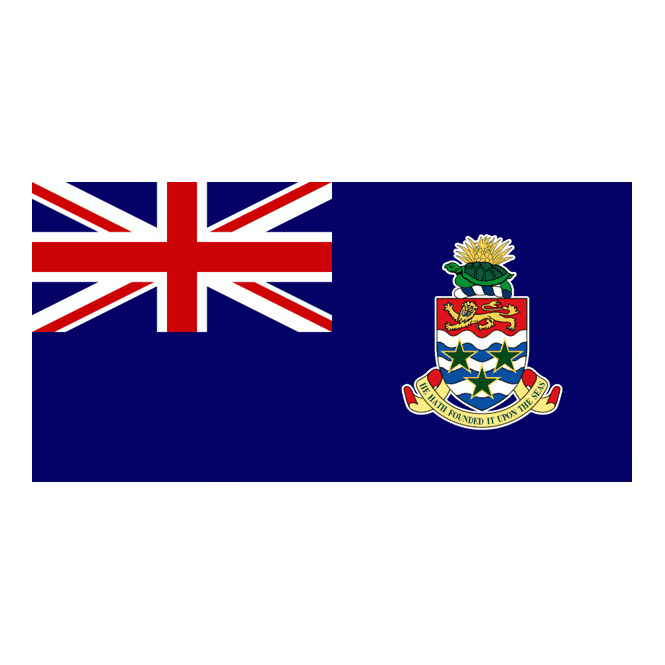 Cayman Islands (new) 3x2 Feet Polyester Flag with Eyelets - 90cm x 60cm