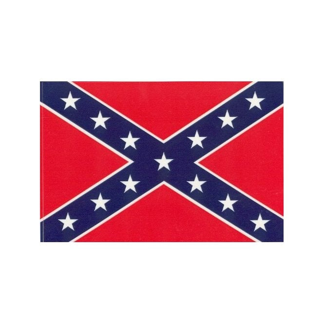 Confederate 8x5 Feet Polyester Flag with Eyelets - 250cm x 150cm