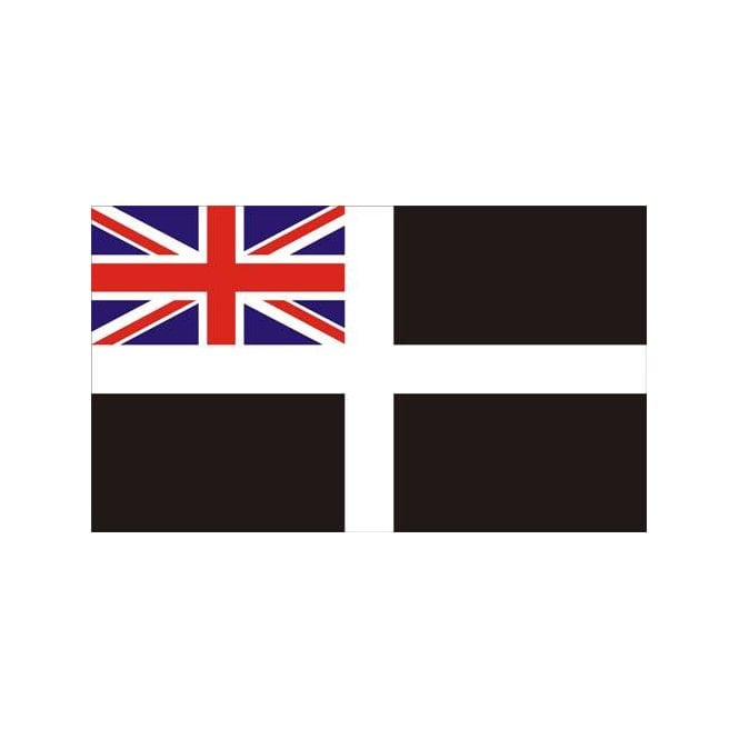 Cornwall Ensign 5x3 Feet Polyester Flag with Eyelets - 150cm x 90cm