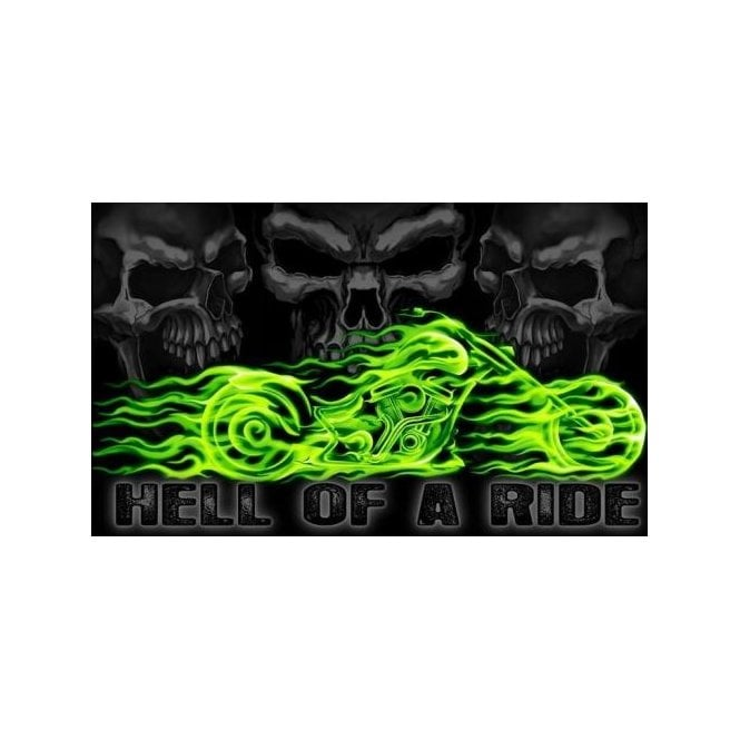 Hell Of A Ride 5x3 Feet Polyester Flag with Eyelets - 150cm x 90cm