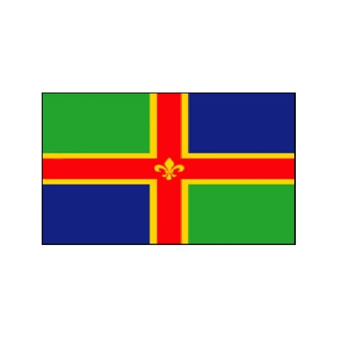 Lincolnshire 5x3 Feet Polyester Flag with Eyelets - 150cm x 90cm