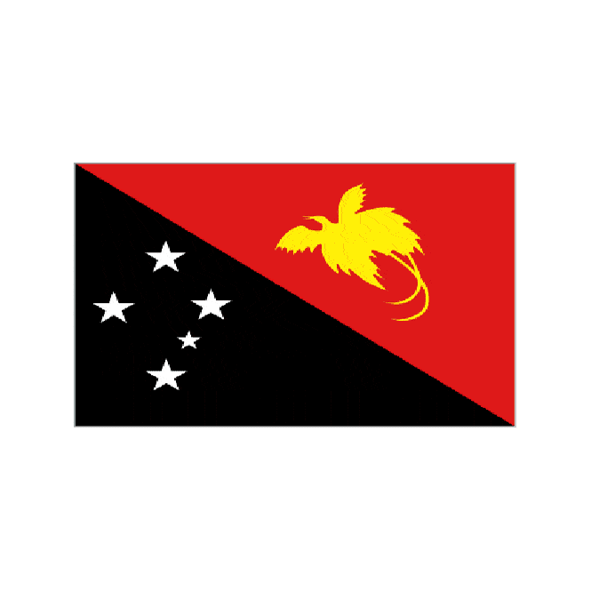 Papua Guinea 3x2 Feet Polyester Flag with Eyelets - 90cm x 60cm